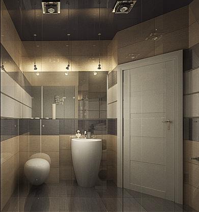 дизайн интерьера ванной, 3D модель, Владивосток