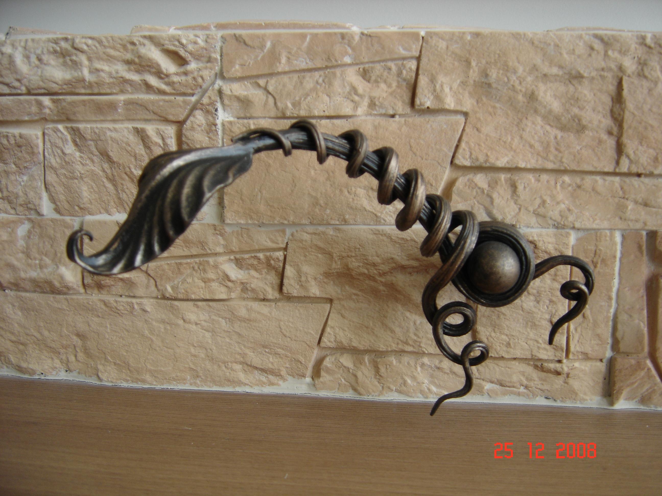 кованая ручка каминной заслонки, художественная ковка, Владивосток