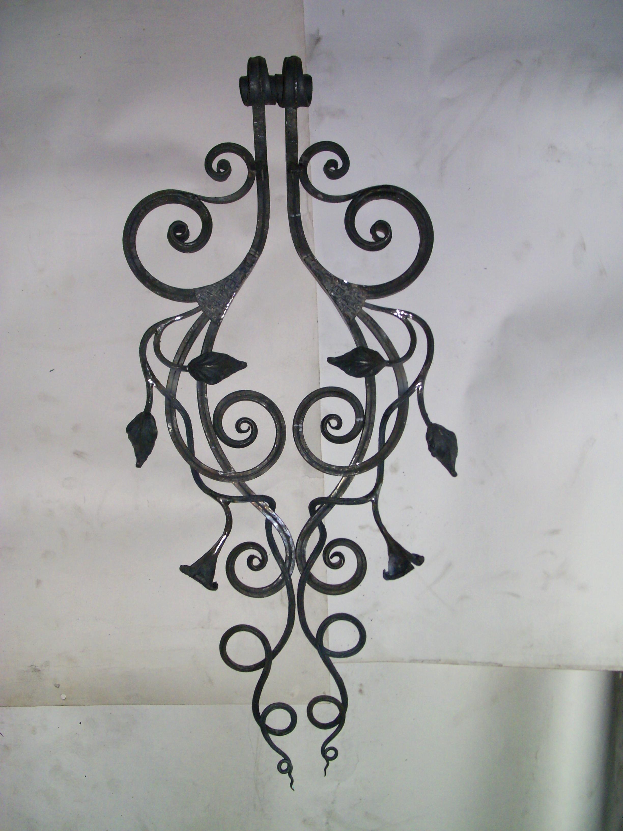 кованые кронштейны карниза для штор, художественная ковка, Владивосток