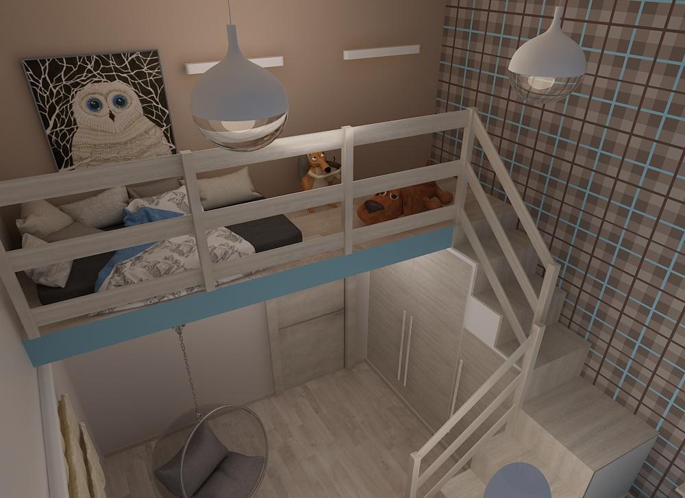 дизайн интерьера детской, дизайн проект дома, Владивосток