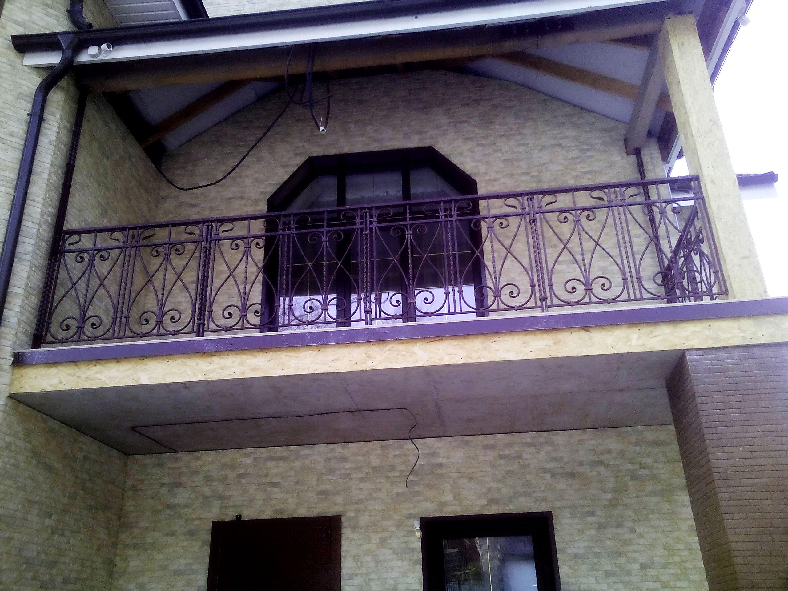 кованое ограждение балкона, художественная ковка, Владивосток