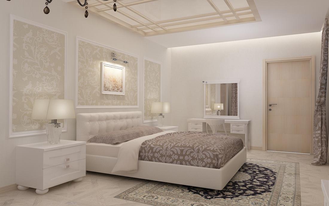 дизайн-проект спальни, дизайн интерьера, 3D модель, Владивосток