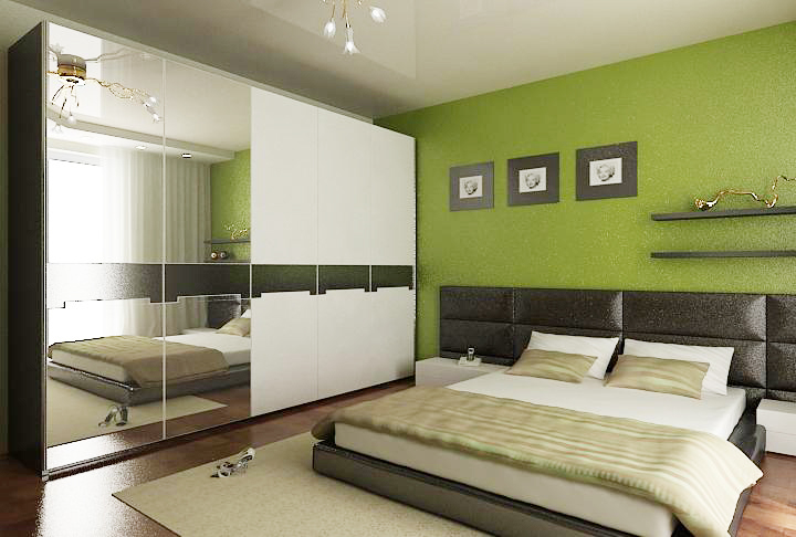 дизайн интерьера спальни, дизайн проект квартиры, Владивосток