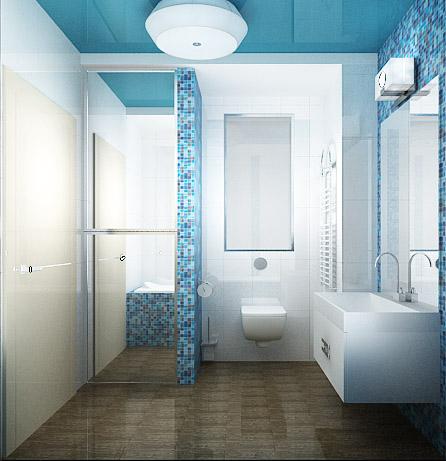 дизайн-проект ванной, дизайн интерьера, 3D модель, Владивосток