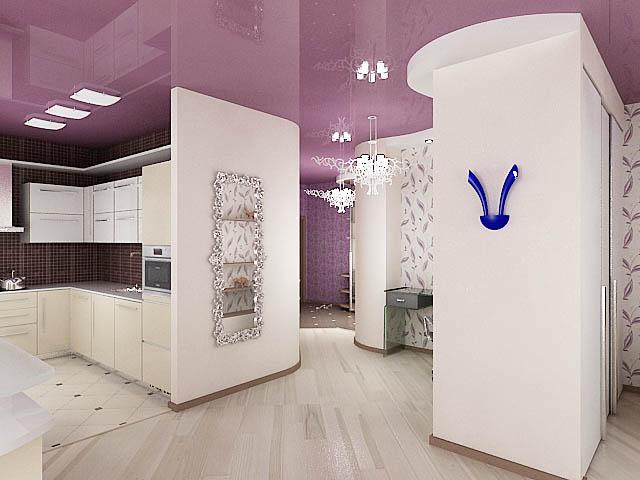 дизайн проект кухни, дизайн интерьера квартиры.  3D модель