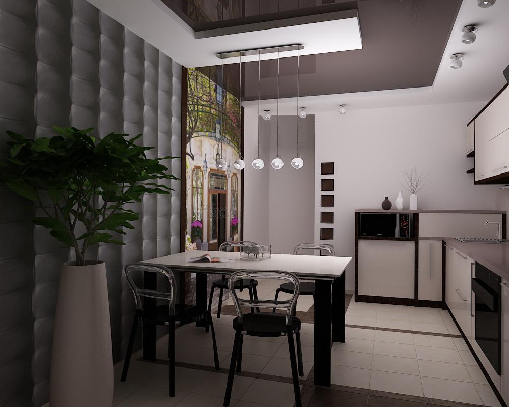дизайн-проект квартиры, дизайн интерьера кухни