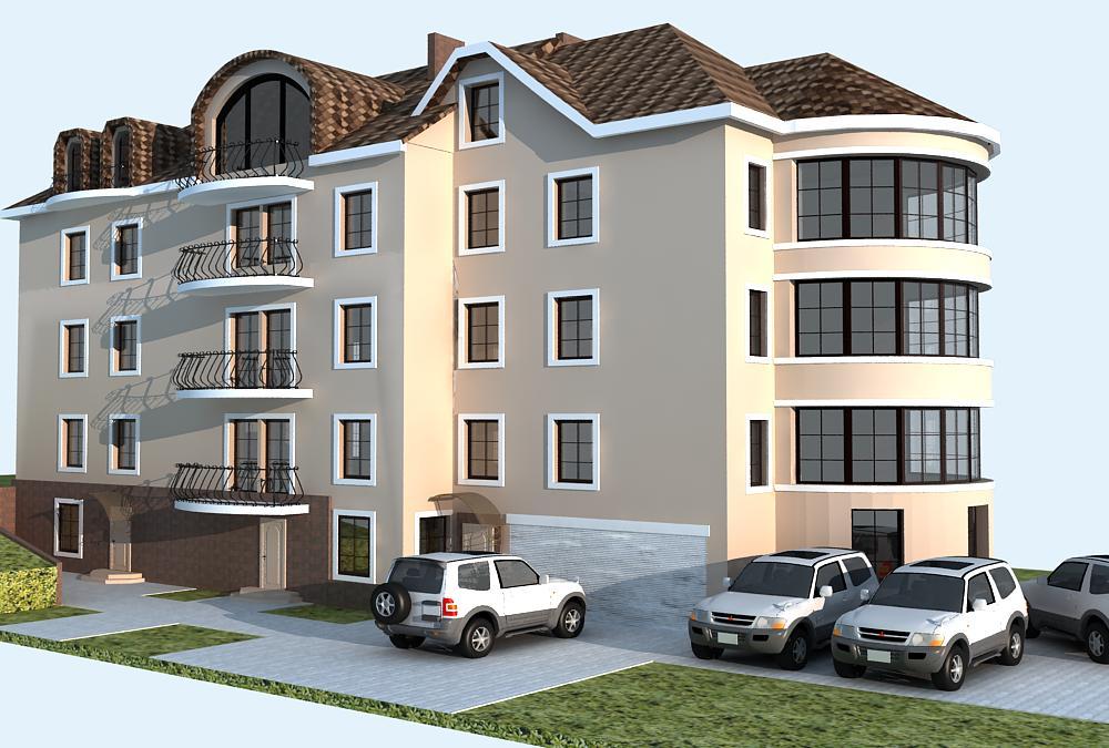 дизайн проект многоквартирного жилого дома, дизайн фасада, Владивосток