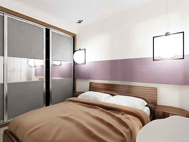 дизайн проект квартиры, дизайн интерьера спальни, 3D модель, Владивосток