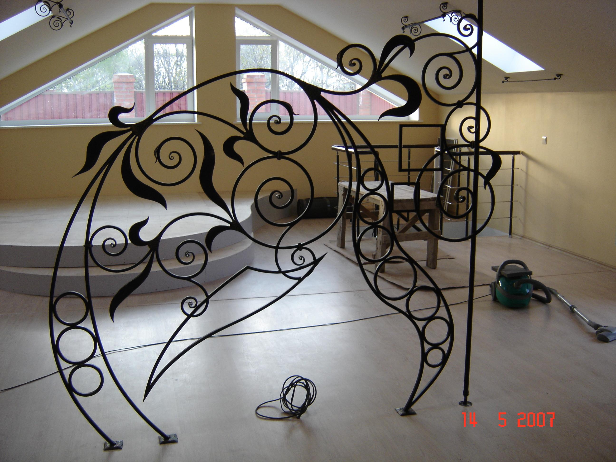 кованая перегородка, художественная ковка, Владивосток