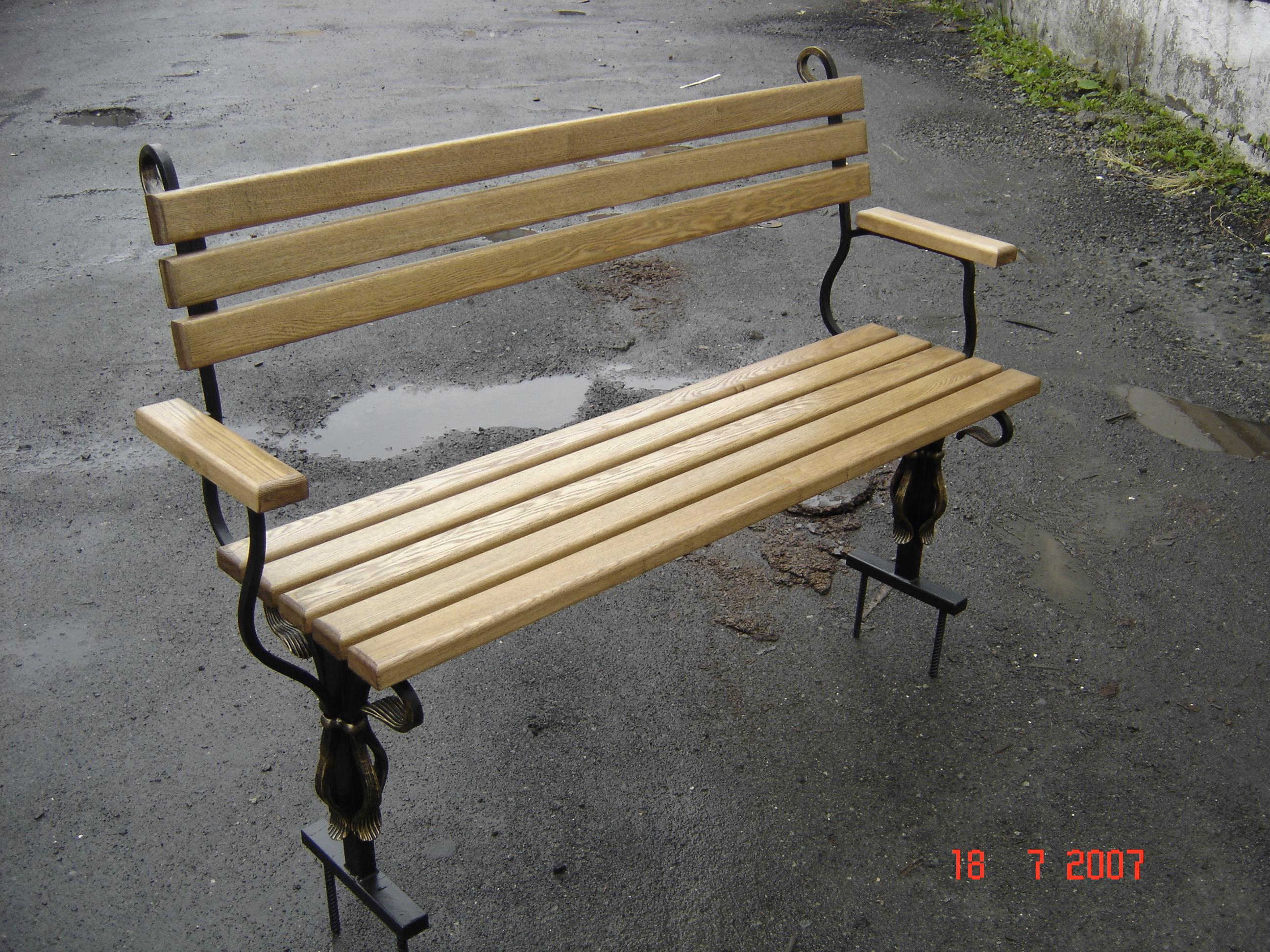 кованая скамейка, художественная ковка, Владивосток