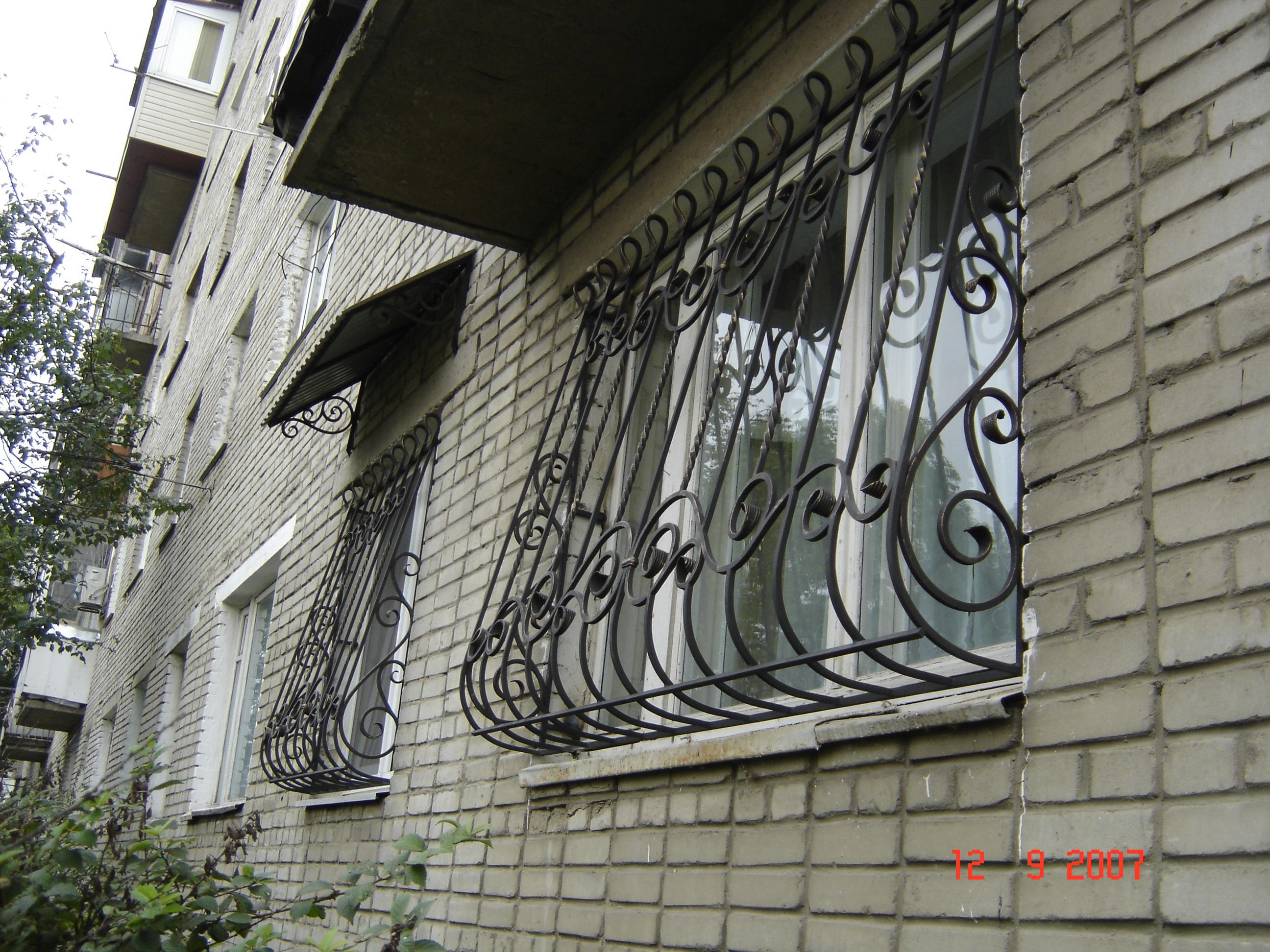 кованая оконные решетки, художественная ковка , Владивосток