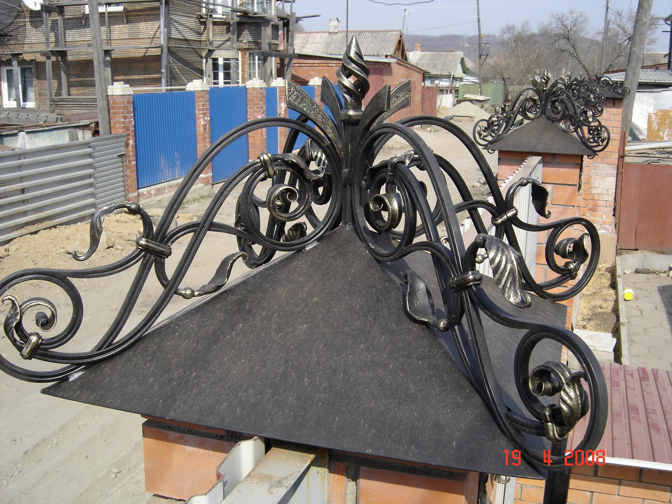 кованые навершия столбов, художественная ковка,  Владивосток