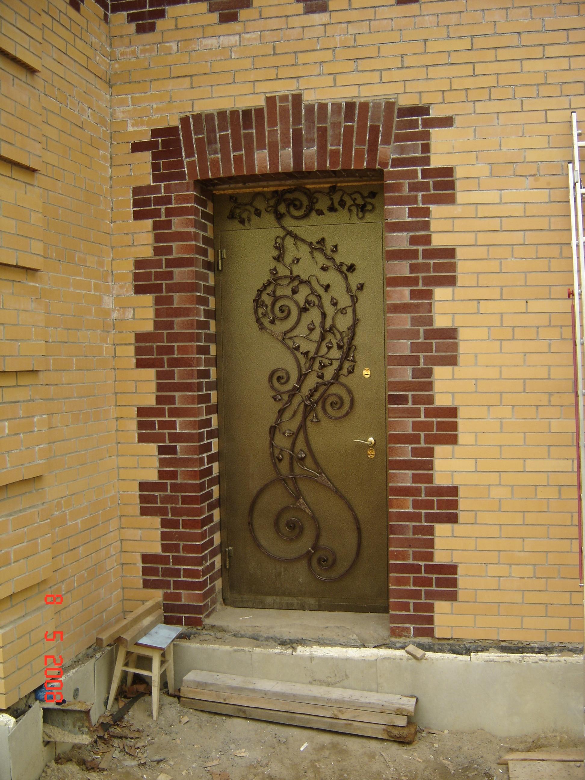 кованая дверь, художественная ковка,  Владивосток