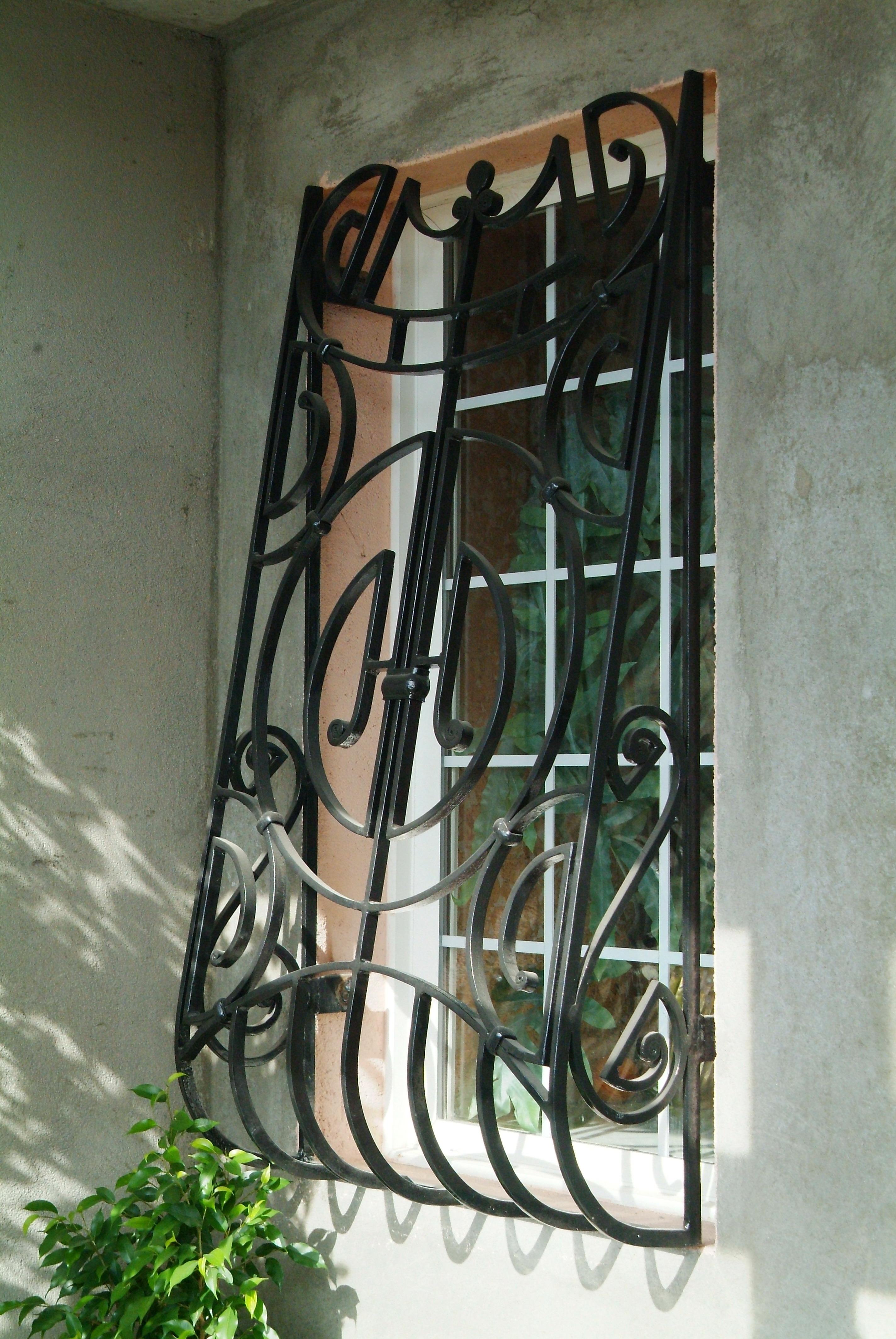 кованая оконная решетка, художественная ковка , Владивосток