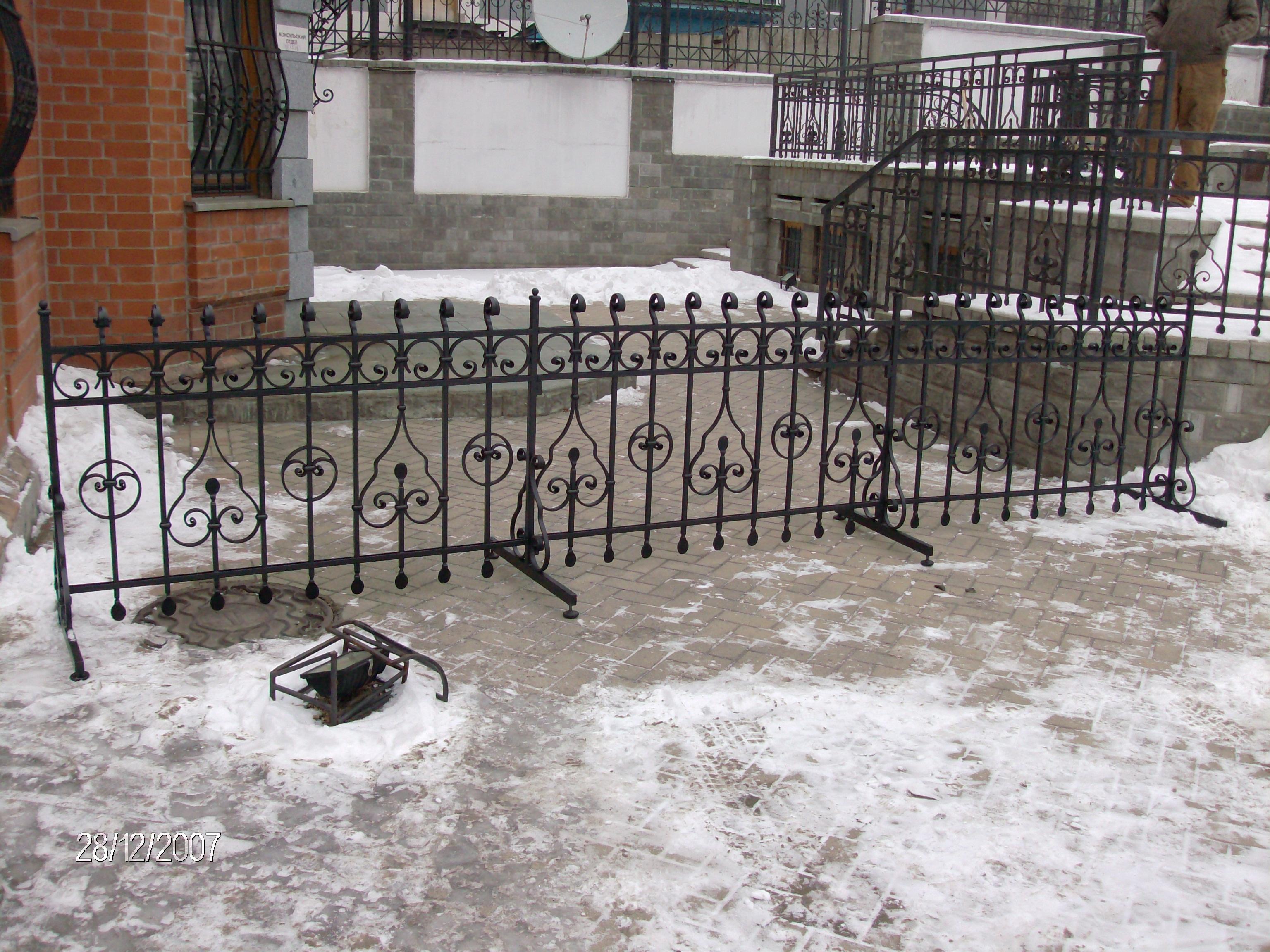 кованое ограждение, художественная ковка, Владивосток