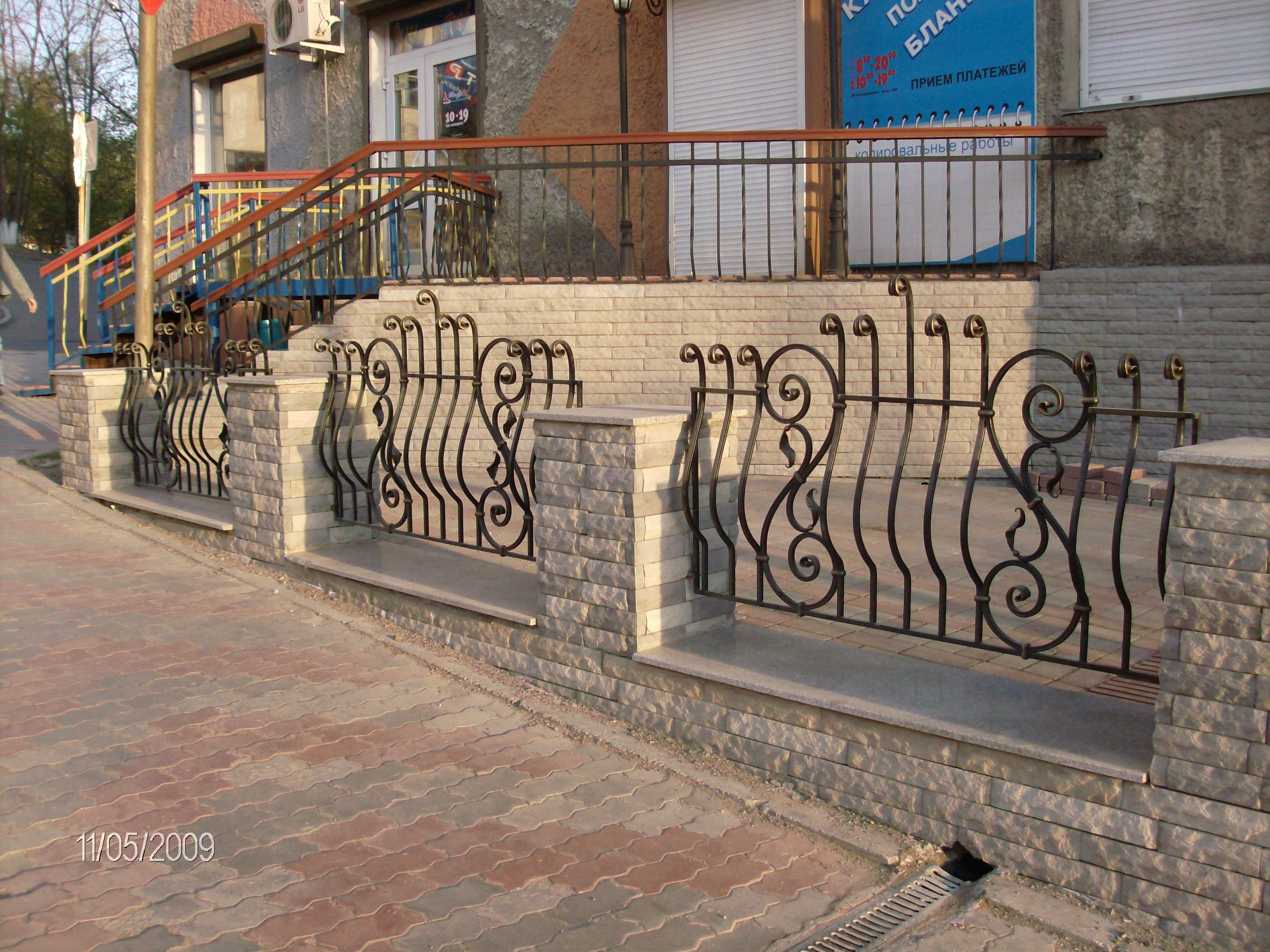 Кованое ограждение террасы, художественная ковка, Владивосток
