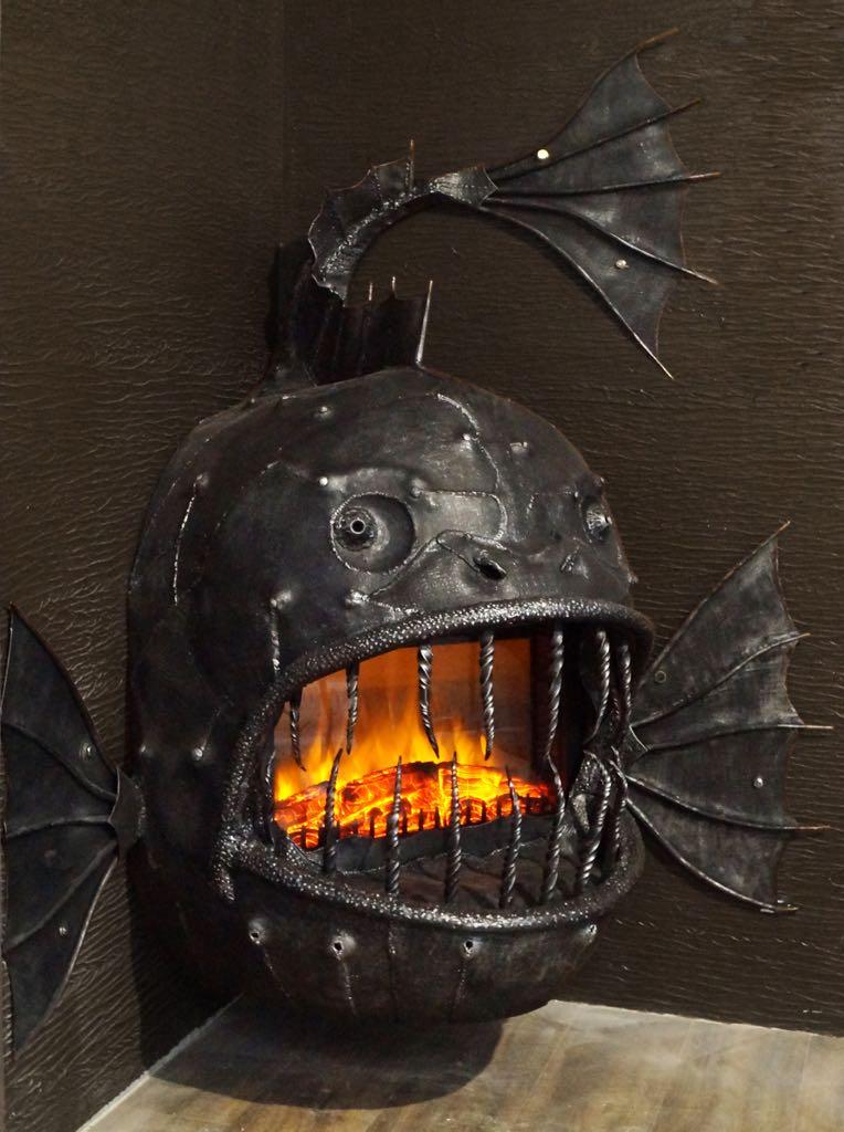 кованый камин, ковка Владивосток, художественная ковка