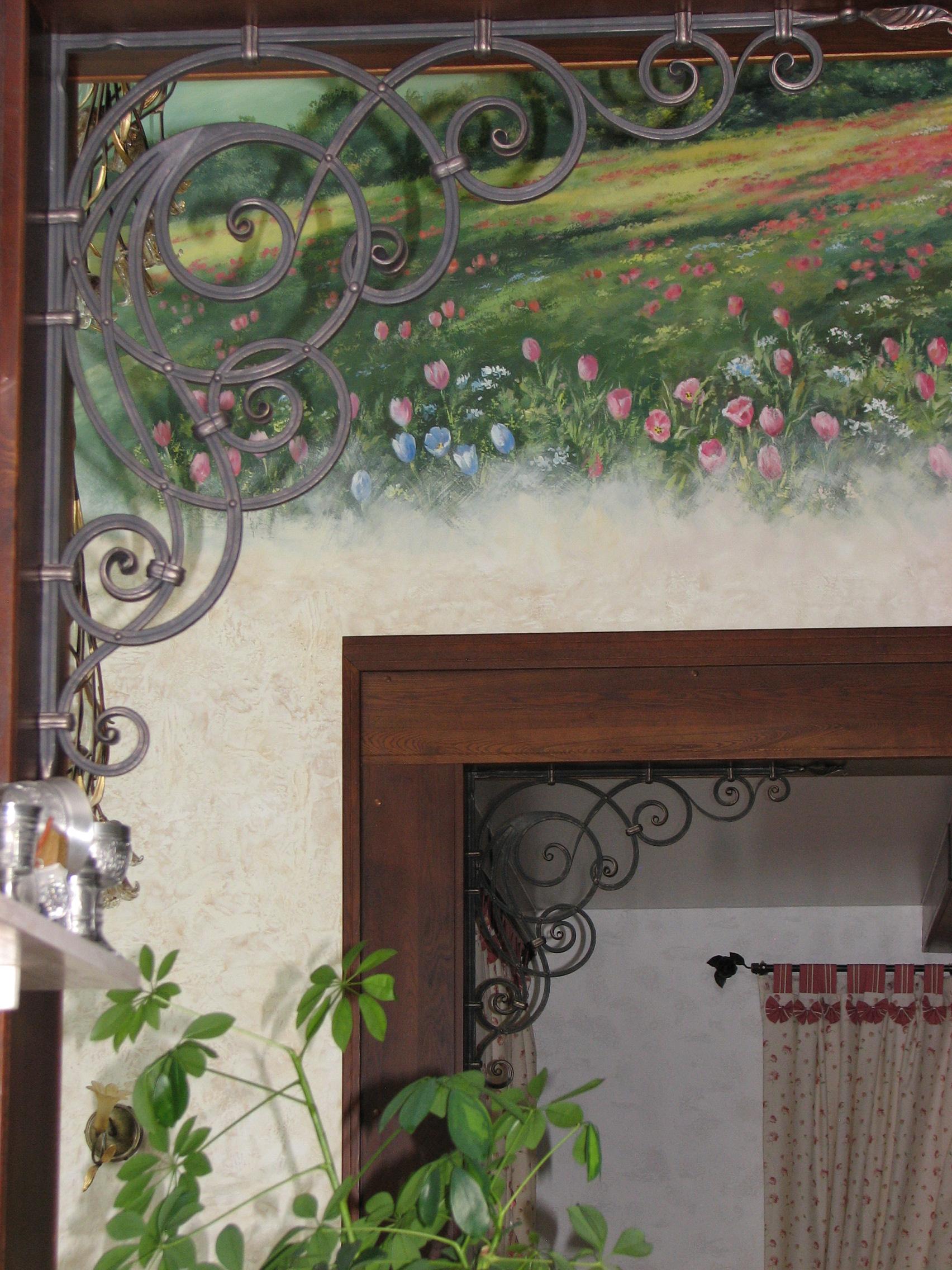 кованый кронштейн, художественная ковка, Владивосток