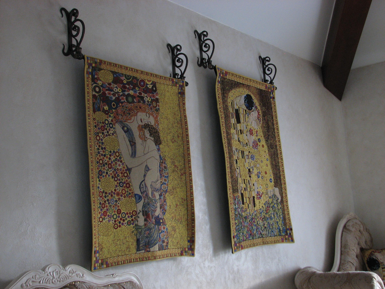 кованые кронштейны для подвески картин, художественная ковка, Владивосток