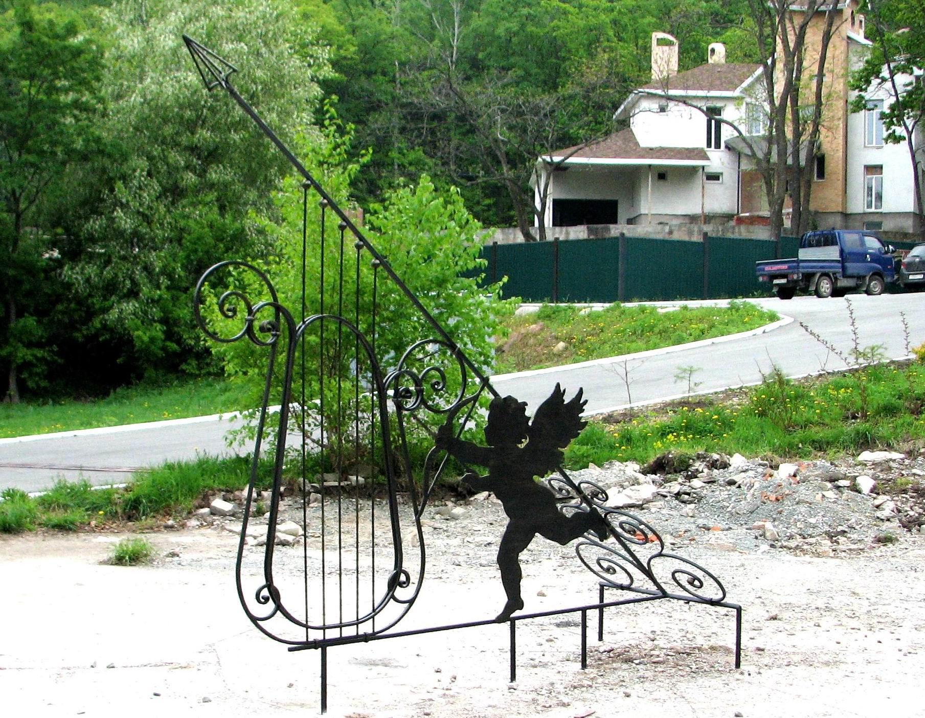 кованые солнечные часы, художественная ковка, Владивосток