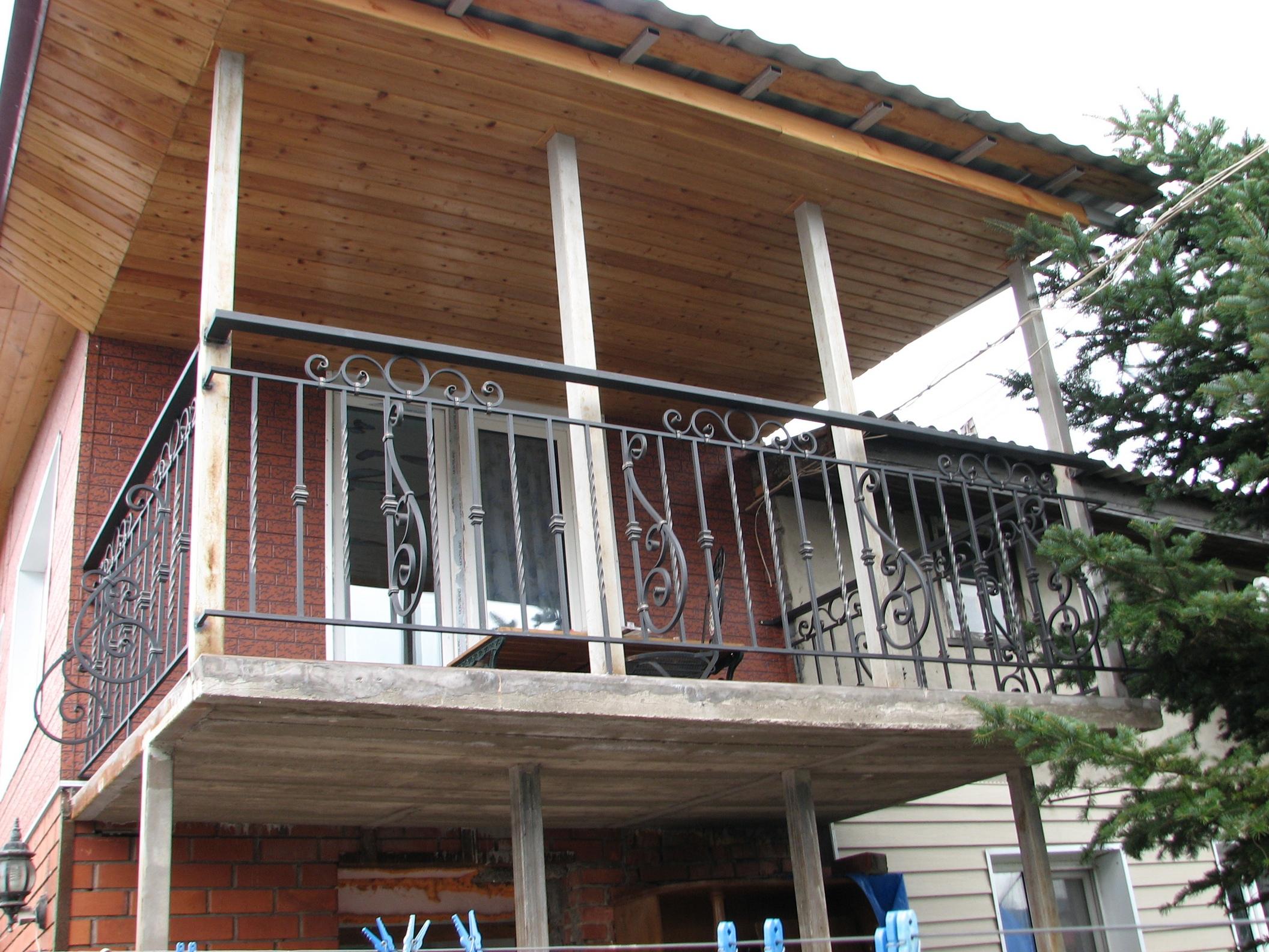кованое ограждение балкона, ковка Владивосток