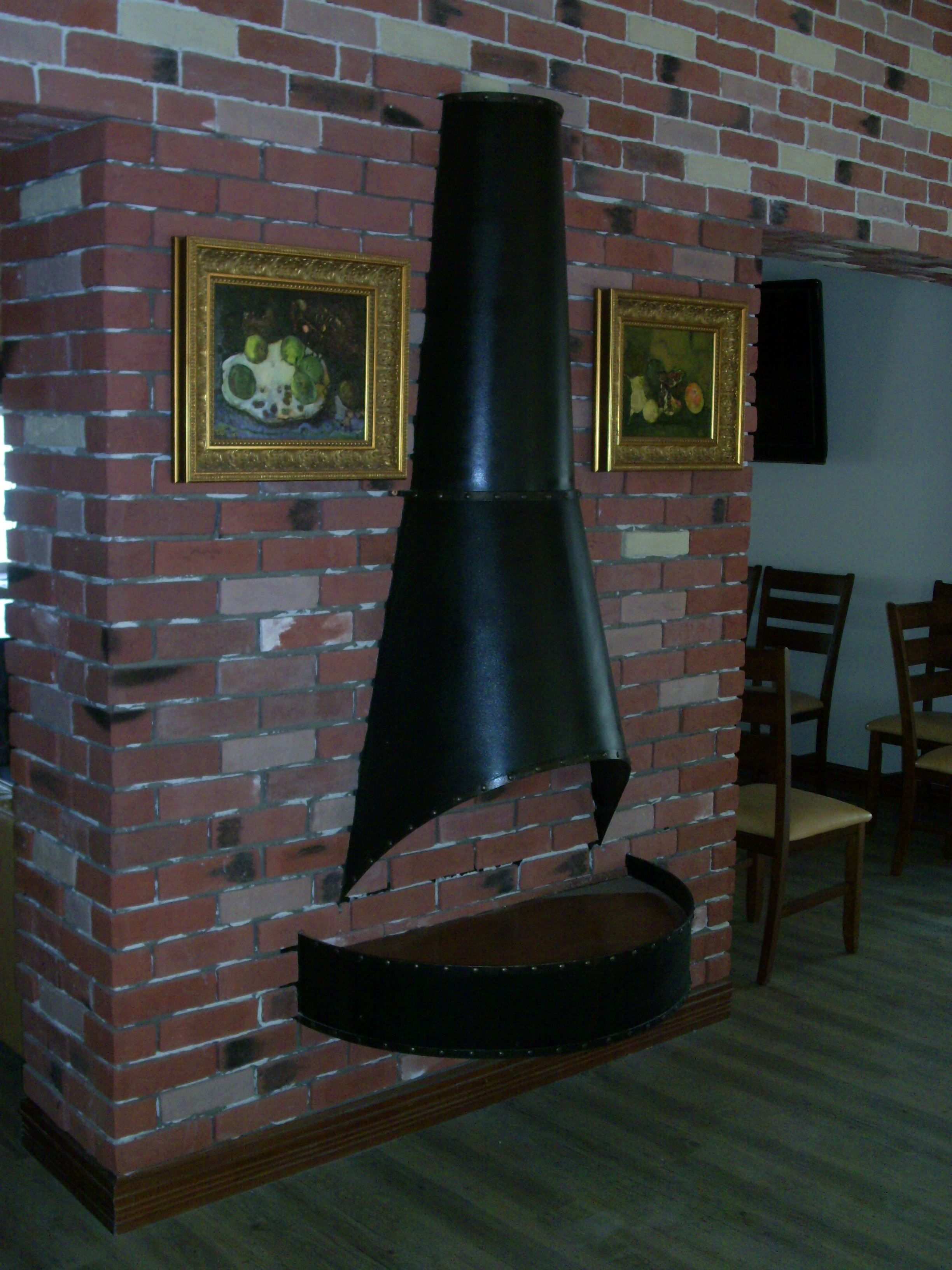 кованая имитация камина, художественная ковка, Владивосток