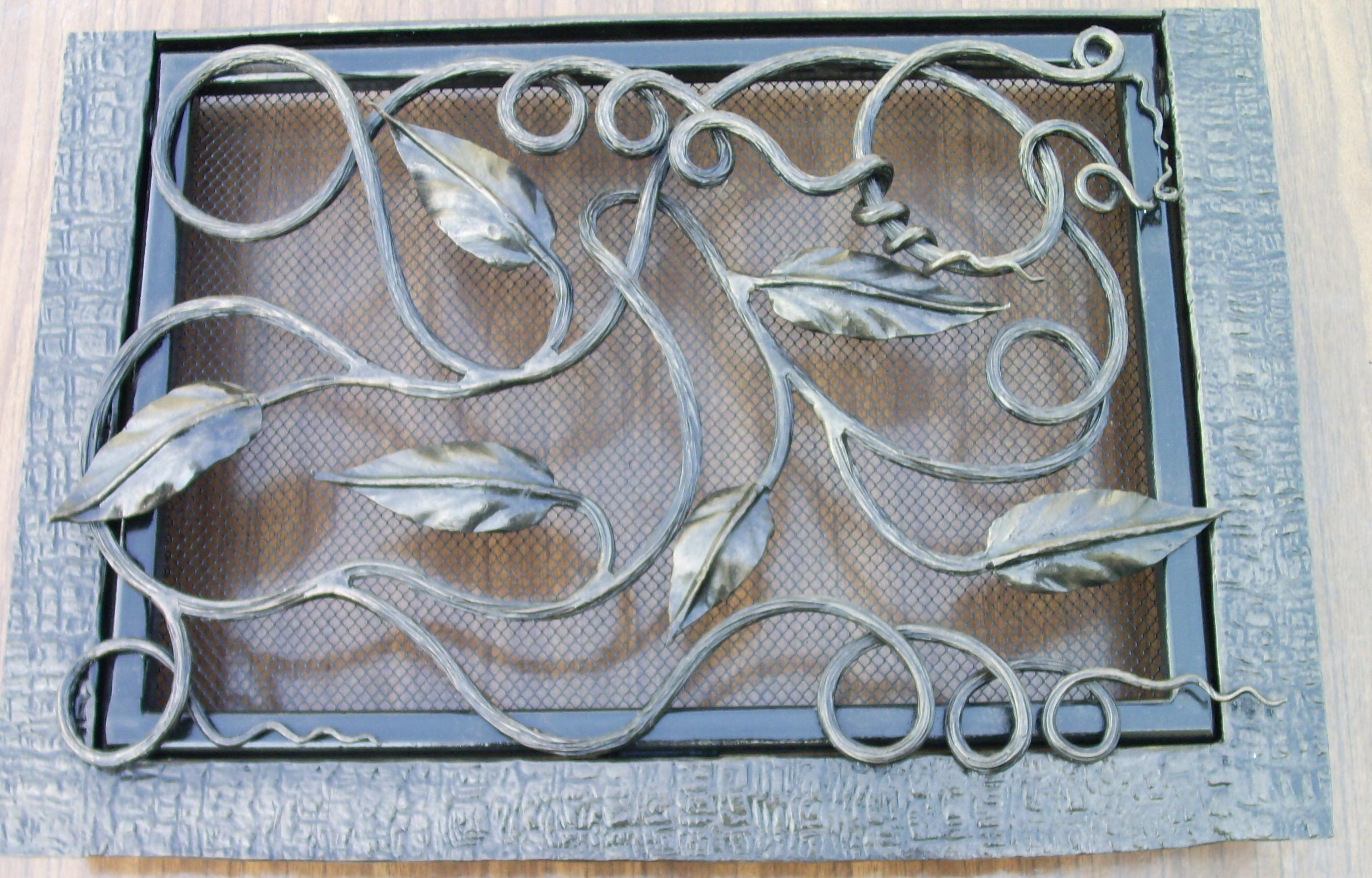 кованая вентиляционная решетка, художественная ковка , Владивосток