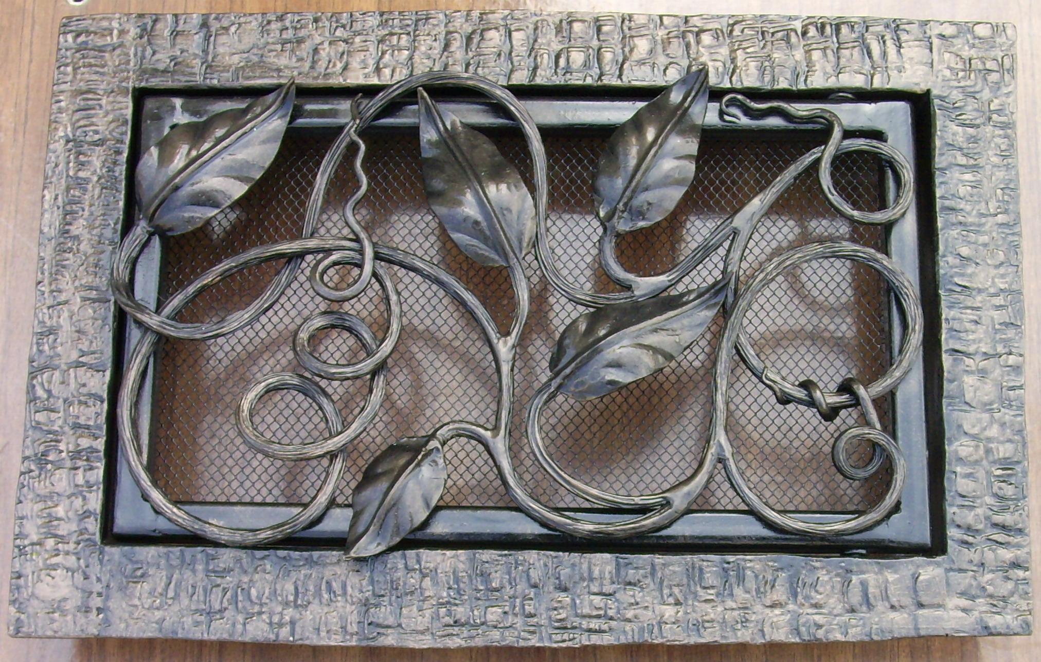 кованая вентиляционная решетка, художественная ковка, Владивосток