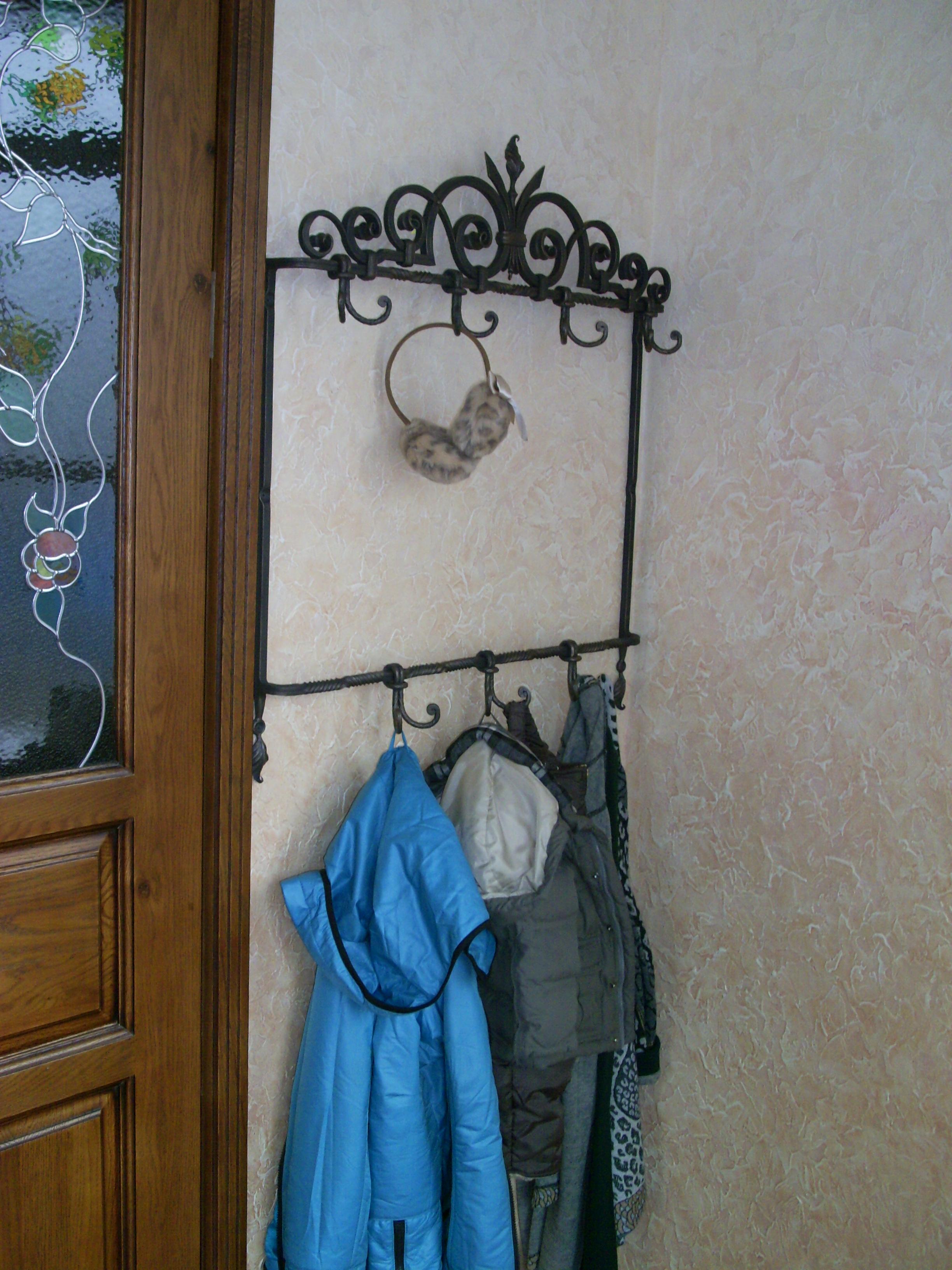 кованая вешалка, художественная ковка, Владивосток