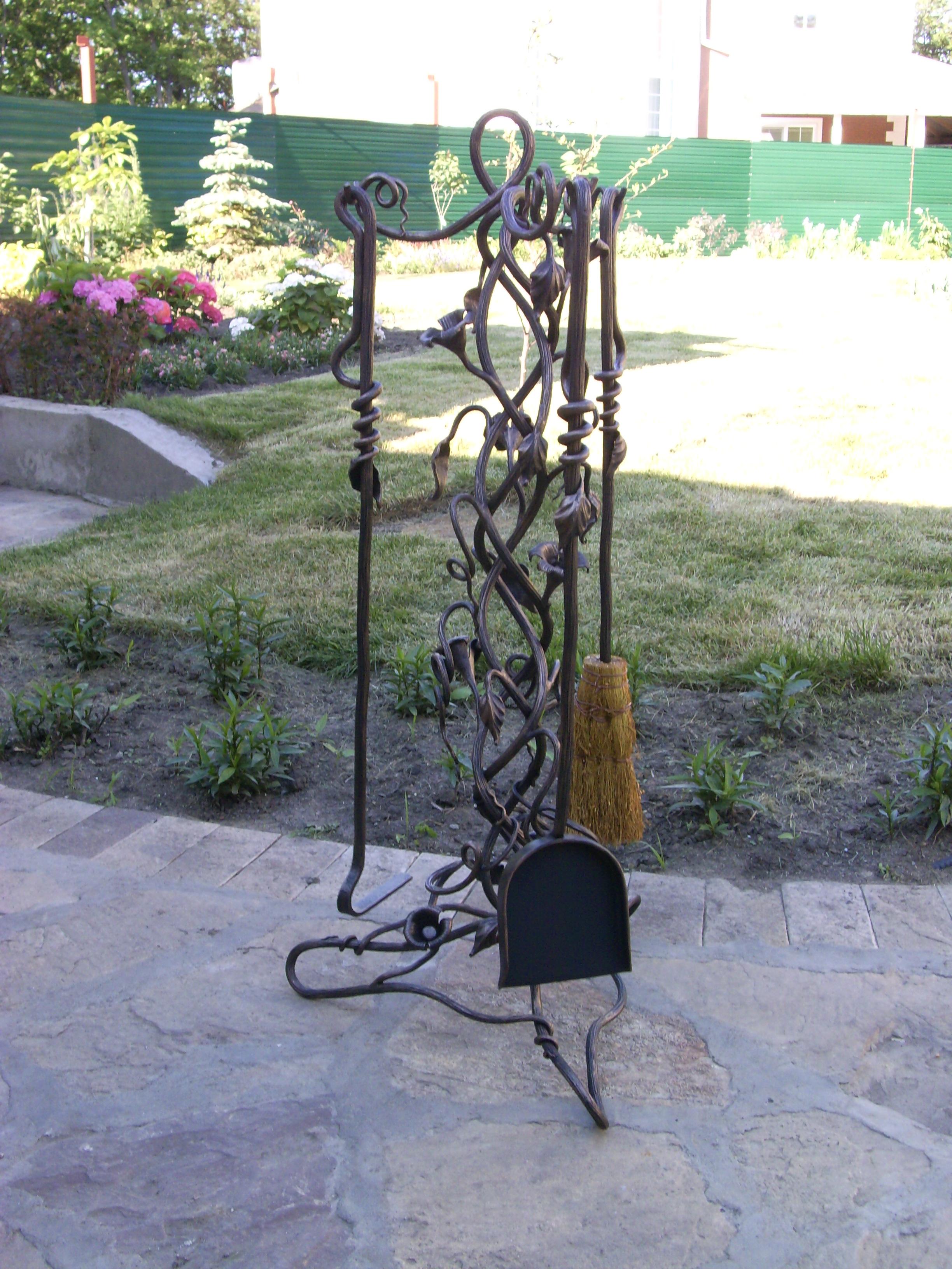 кованый каминный набор, художественная ковка, Владивосток