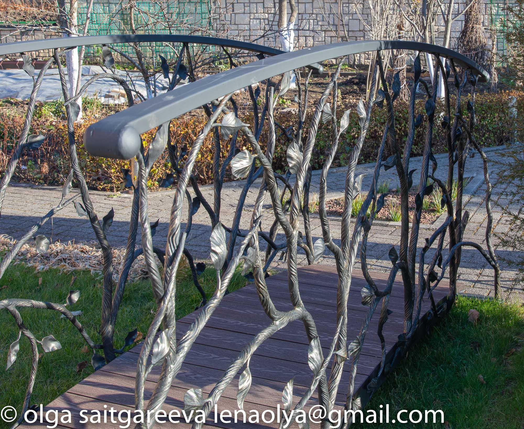 кованый мостик, художественная ковка, Владивосток